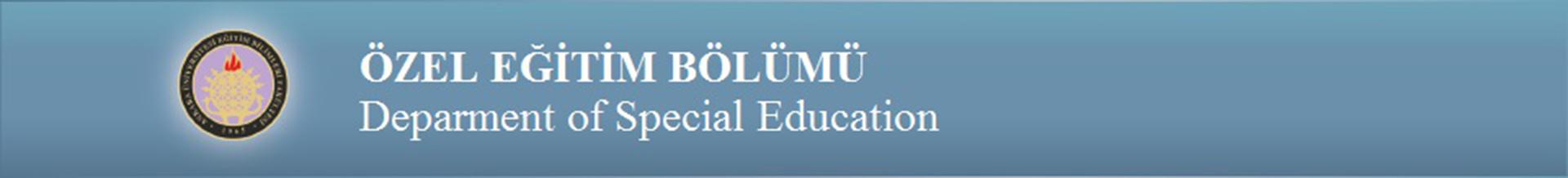 Ankara Üniversitesi Özel Eğitim Bölümü